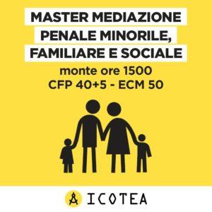 MASTER MEDIAZIONE PENALE MINORILE FAM E SOC