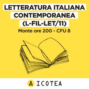 corso letteratura italiana contemporanea