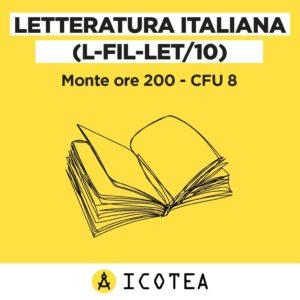 corso letteratura italiana