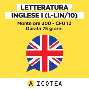LETTERATURA INGLESE I