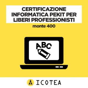 Certificazione Informatica PEKIT per Liberi Professionisti monte 400
