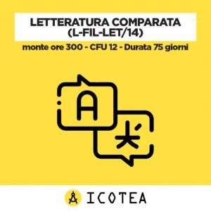 Letteratura Comparata (L-FIL-LET14) - monte ore 300 - CFU 12 - Durata 75 giorni