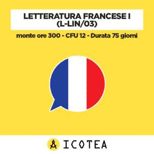 Letteratura Francese I (L-LIN03) - monte ore 300 - CFU 12 - Durata 75 giorni