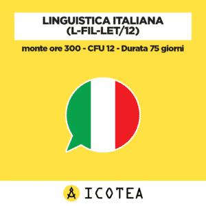 Linguistica italiana (L-FIL-LET12) - monte ore 300 - CFU 12 - Durata 75 giorni