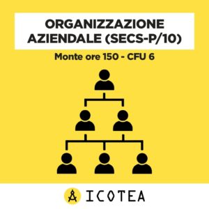 Organizzazione Aziendale (SECS-P10) Monte ore 150 - CFU 6