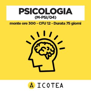 Psicologia (M-PSI04) - monte ore 300 - CFU 12 - Durata 75 giorni