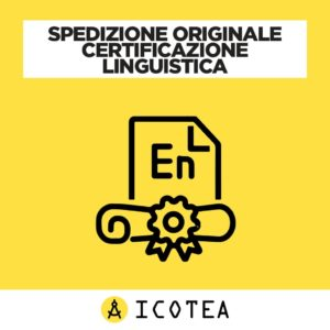 Spedizione Originale Certificazione Linguistica