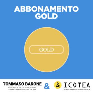 ABBONAMENTO GOLD tommaso barone