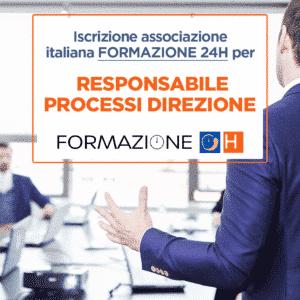 iscrizione formazione 24h Responsabile Processi Direzione